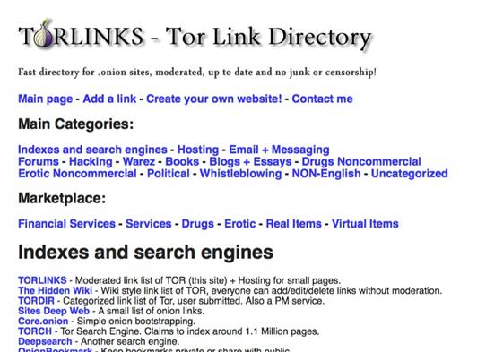 Tor Link Directory(Library) - HiddenWiki org